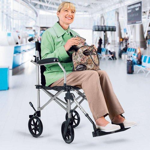 Leichte Transit Rollstuhl - Legierung mit Kostenlose Tragetasche