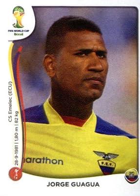 2014 Panini World Cup Soccer Sticker # 360 Jorge Guagua Team Ecuador