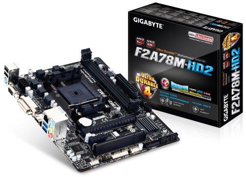 Gigabyte FM2+ AMD A78 HDMI Dual-Link DVI D-Sub UEFI BIOS mATX DDR3 2133 Motherboard GA-F2A78M-HD2