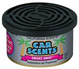 2 X SMOKE AWAY CAR HOME OFFICE GYM AIR FRESHENER - CALIFORNIA CAR SCENTS