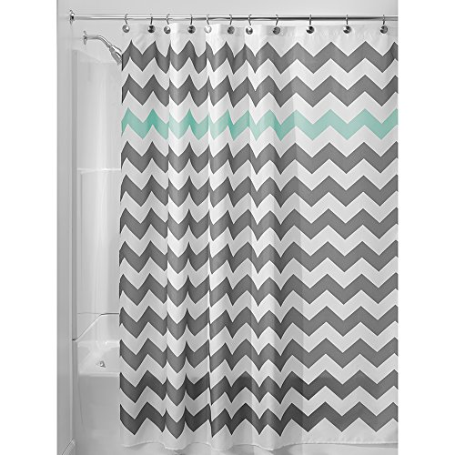 InterDesign Chevron Shower Curtain, 54 x 78