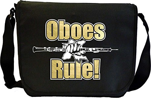 Oboe Rule - Sheet Music Document Bag Borsa Spartiti MusicaliTee