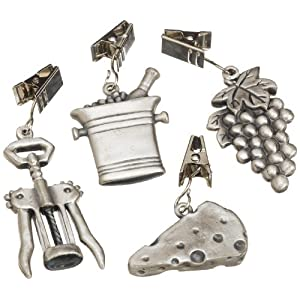 Wine and Cheese Pewter Tablecloth Weights