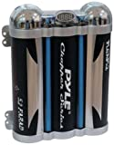 PYLE PLCAP5.2 5.2 Farad Triple Link Capacitor with Blue Neon