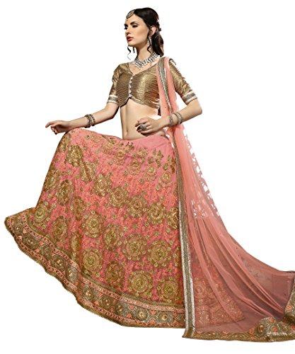 AASVAA-Womens-Peach-Embroidered-Lehenga-Choli