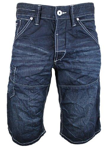 Mens Blue Jack & Jones Jeans CONE Long Designer Loose Fit Shorts Size L