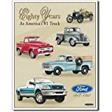 Ford Pickup Trucks 80 Year 1917-1997 Tribute Retro Vintage Tin Sign