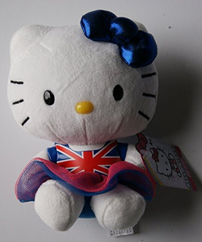 Hello Kitty Mini Plush Doll in Union Jack - 6""
