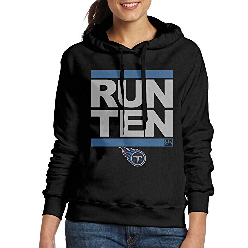 Andrlya&A Girl's RUN-CTY TEN Titans Pro Line Long Sleeve Hooded Sweatshirt Black Large (Proline Titan compare prices)