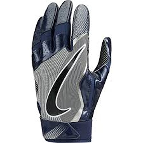 Nike Mens Vapor Jet 4.0 Football Receiver Gloves College Navy/Wolf Grey/Black (Small) (Nike Vapor Jet Small compare prices)