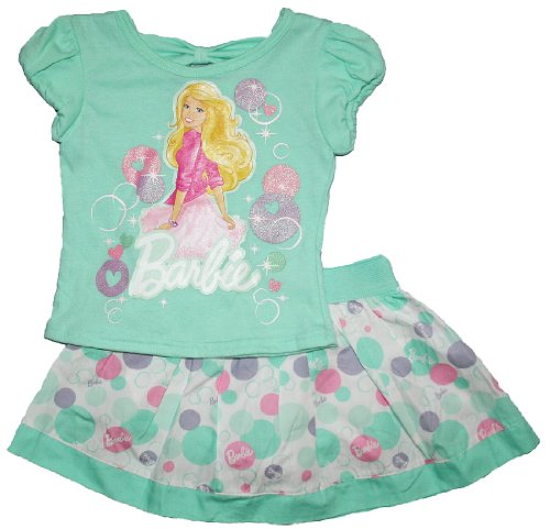 Barbie Toddler Girls Scooter Skirt & T Shirt Clothing Set (3T)