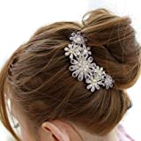 CAETLE® Beautiful Jewelry Flowers Crystal Hair Clip