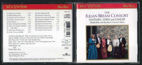 Julian Bream Consort Fantasies Ayres Dances Elizabethan Jacobean Music CD 1988
