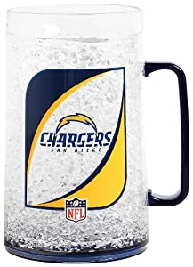 NFL San Diego Chargers 36-Ounce Crystal Freezer Monster Mug by Duck House