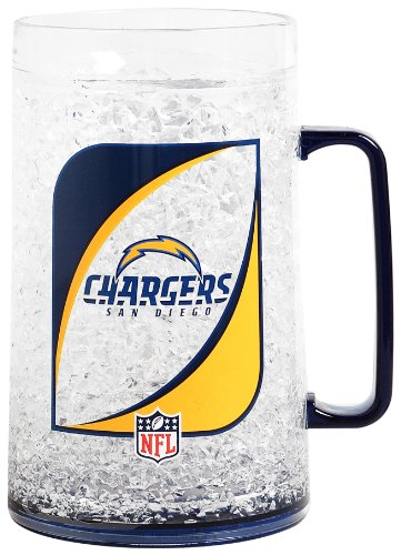 Nfl San Diego Chargers 36-Ounce Crystal Freezer Monster Mug