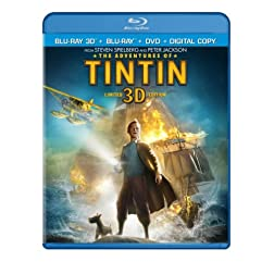 The Adventures of Tintin (Three-Disc Combo: Blu-ray 3D / Blu-ray / DVD / Digital Copy)