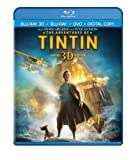 Cover art for  The Adventures of Tintin (Three-Disc Combo: Blu-ray 3D / Blu-ray / DVD / Digital Copy)