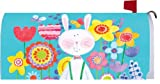 Patchwork Bunny Easter 1913MM Magnetic Mailbox Cover Wrap