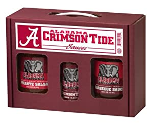 Alabama Crimson Tide Ncaa Tailgate Kit 5oz Hot Sauce 16oz Bbq Sauce 16oz Picante Salsa from Hot Sauce Harrys