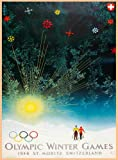 C1948 OLYMPIC GAMES Winter Olympic Games in SWITZERLAND ST MORITZ 250gsm ART CARD Gloss A3 Reproduction Poster