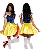 OYMMENEY Ladies Adult Snow White Princess Cosplay Fancy Dress Halloween Costume