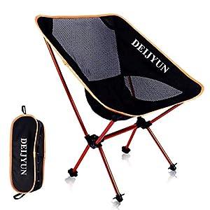 DEIJYUN アウトドア チェア キャンプ 椅子 コンパクトチェア 丈夫アルミ合金&軽量 コンパクト
