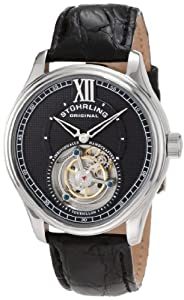 Stuhrling Original Men's 361.331X1 Tourbillon Everest Limited Edition Mechanical Black Watch
