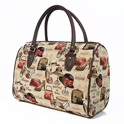 women's pink canvas weekend travel duffle bag boutique design