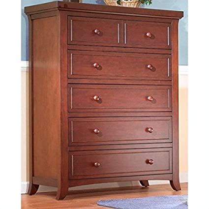 Sorelle Alex 5 Drawer Chest in Mocha Cafe