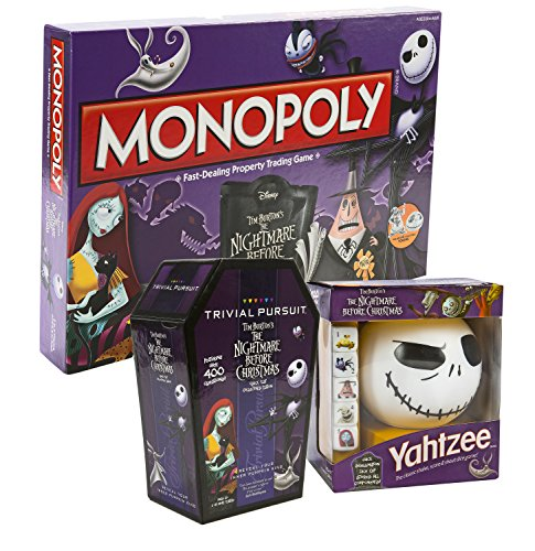 Maven Gifts: The Nightmare Before Christmas: Monopoly, Trivial Pursuit and Yahtzee