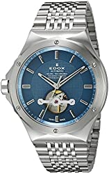 Edox Men's 85024 3M BUIN Delfin Analog Display Swiss Automatic Silver Watch