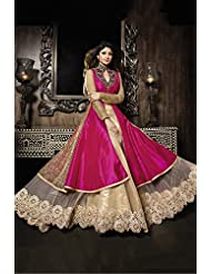 Gresha Designer Long Sarara Style Anarkali Suit With Attractive Long Skirt