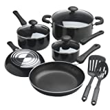 Essential Home 10 Piece Soft Grip Aluminum Cookware Set