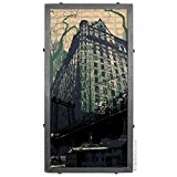 Abstract Plaza Hotel Framed Silkscreen Print in Handcrafted Welded Frame, New York City, NY