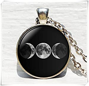 Triple Goddess pendant, Moon Goddess jewelry, Goddess necklace