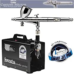 Iwata CM-B 018mm FINE AIRBRUSH W/IS875 SMART JET PRO COMPRESSOR