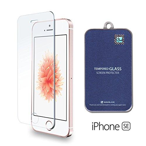 WANLOK 2016 改善版 Apple iPhone SE 4.0インチ ガラスフィルム 国産ガラス使用 液晶保護 フィルム 0.3mm 9H スマホ ラウンドエッジ 指紋防止 90日保証 simフリー スマートフォン 【国内正規品】 iPhoneSE