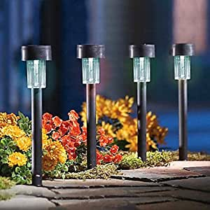 pcs led garden light solar plastic solar lawn light lighting garden