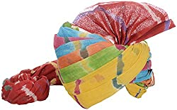 Jodhpuri Fashions Mens Cotton Turban (Multi Color, 8 Meters)