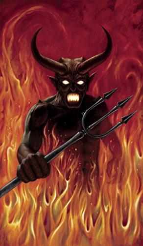 WOWindow Posters Devil's Hell Fire Halloween Window Decoration 34.5