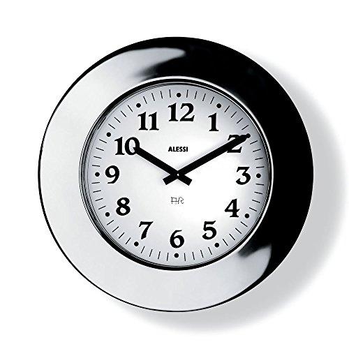 Alessi - 11 - Momento Orologio da parete in acciaio inossidabile 18/10 lucido. Movimento meccanico.