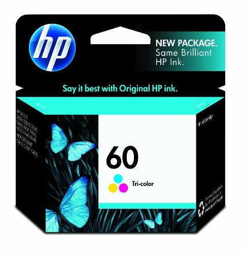 HP CC643WN140 60 Tri-Color Ink Cartridge - Retail Packaging