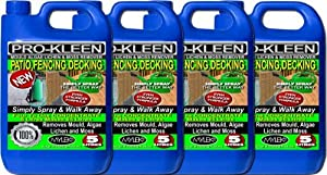 4 x 5 Litres - Simply Spray & Walk Away Concentrate Patio - Fencing - Decking - Mould Algae & Moss Remover
