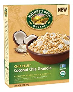 Nature's Path Chia Plus Granola, Coconut Chia, 12.34-Ounce
