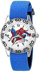 Marvel Kids' W002591 Spider-Man Time Teacher Analog Display Analog Quartz Blue Watch