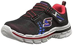 Skechers Kids Nitrate-Realms TD Athletic Sneaker (Toddler), Black/Red/Blue, 6 M US Toddler