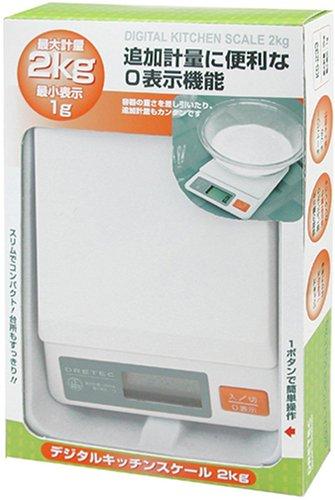 DRETEC Digital Kitchen ?chelle 2 kg blanc KS-233WT (japon importation)