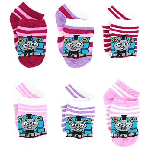 thomas-and-friends-little-girls-6-pack-socks-size-2-4-shoe-size-4-7