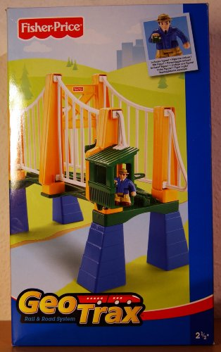 GeoTrax Sky High Suspension Bridge with Figure (Fisher Price Trolley compare prices)