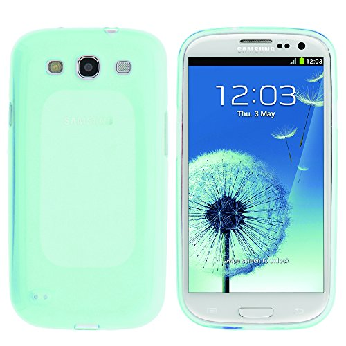 Miniturtle, Colorful Lightweight Slim Fit Flexible Tpu Phone Case Cover, Stylus Pen, And Clear Lcd Screen Protector Accessory Bundle For Android Smartphone Samsung Galaxy S3 Iii I9300 (Transparent Light Blue)